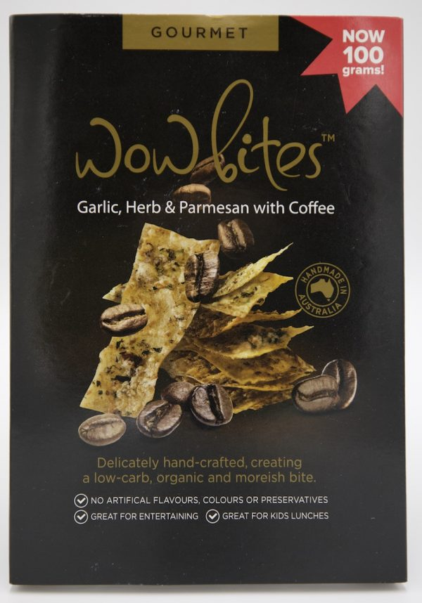 Gourmet crackers shop local, coffee savoury crackers in box - single item